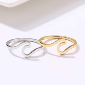 Gold Waterwave Ring
