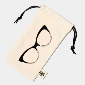 Cat Eyeglasses Canvas Pouch