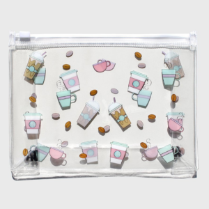 Coffee Beauty Clear Makeup Pouch